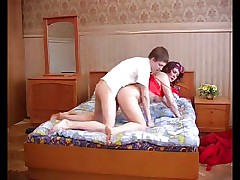 Mom Olga on bed