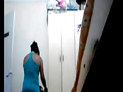 Spycam mom after shower