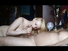 Blowjob from mature russian blonde