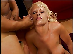 Layla Jade gets her holes savaged by studs in rough DP threesome