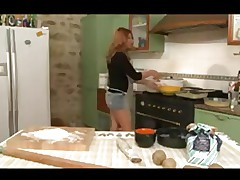 sexy milf fuck boy in kitchen