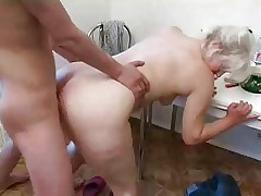 Blonde Mature x Young guy