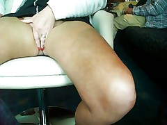 Mature secret masturbation on the public place